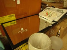  1X   MADE.COM SAMSON INDUSTRIAL WALL MIRROR   MATT BLACK   51 X 71 CM   UNCHECKED & BOXED   RRP £