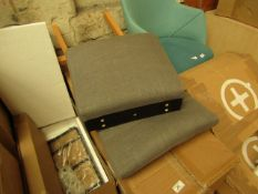   1X   MADE.COM SET OF 2 FLYNN DINING CHAIRS   GRAPHITE GREY   UNCHECKED & BOXED   RRP £149  