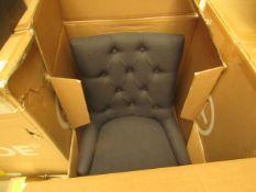 1 x Made.com Flynn Scoop Back Chair Midnight Black RRP £139 SKU MAD-CHAFLN056BLA-UK TOTAL RRP £139