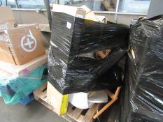 x Made.com Elona Bedside Table Slate Blue & Black RRP £149 SKU MAD-BSTELN150BLU-UK TOTAL RRP £0