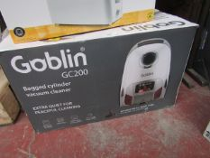 | 2X | GOBLIN BAGGED CYLINDER VACUUM CLEANER | UNCHECKED & BOXED | NO ONLINE RESALE | SKU - | RRP £