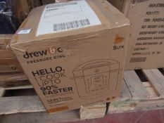 | 1X | DREW & COLE PRESSURE KING PRO 5L 12 IN 1 | UNCHECKED & BOXED | NO ONLINE RESALE | SKU