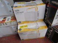 | 3X | 2 SLICE TOASTER | UNCHECKED & BOXED | NO ONLINE RESALE | SKU C054070862780 | LOAD REFERENCE