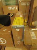 1 x Made.com Pavia Bedside Table Natural Rattan & Walnut Effect RRP £85 SKU MAD-AP-BSTPAV004WAL-UK