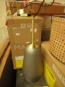 1 x Made.com Corben Bathroom Pendant Light Frosted Glass RRP £59 SKU MAD-AP-BLTCOR002SMK-UK TOTAL