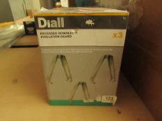 6x Diall - recessed downlight insulation guard (Packs of 3 Per Box) - Unused & Boxed.