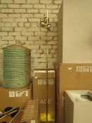 1 x Made.com Austin Floor Lamp Brass RRP £89 SKU MAD-AP-FLPAUS011ZBR-UK TOTAL RRP £89 This lot is