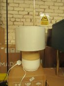 1 x Made.com Todd Table Lamp White & Bamboo RRP £39 SKU MAD-TLPTOD004WHT-UK TOTAL RRP £39 This lot