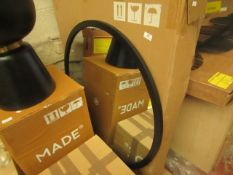 1 x Made.com Keily Round Wall Mirror 90cm Black RRP £129 SKU MAD-AP-MIRKEI002BLK-UK TOTAL RRP £129