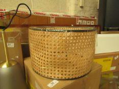1 x Made.com Sagres Table Lamp Shade Cane RRP £39 SKU MAD-AP-SHDSAG004BLK-UK TOTAL RRP £39 This