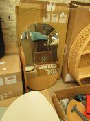 1 x Made.com Mylene Oval Wall Mirror with Shelf Oak RRP £119 SKU MAD-MIRMYL001NAT-UK TOTAL RRP £