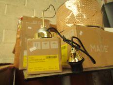 1 x Made.com Fuse Drop Cap Pendant Brass RRP £19 SKU MAD-AP-LGTFUS004ZBS-UK TOTAL RRP £19 This lot