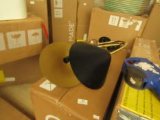 1 x Made.com Ayo Wall Lamp Black and Brass RRP £59 SKU MAD-AP-WLPAYO003BLK-UK TOTAL RRP £59 This lot