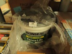 Ronseal - Fence Life Plus, Forest green (9 Litres) - Tub Has Damage.