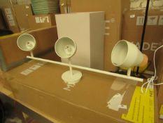 1 x Made.com Albert Ceiling Spotlight Bar Muted Grey RRP £89 SKU MAD-CLPALB021GRY-UK TOTAL RRP £89