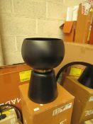 1 x Made.com Alda Totem Planter Large Black & Gold Band RRP £49 SKU MAD-AP-IACALD001BLK-UK TOTAL RRP
