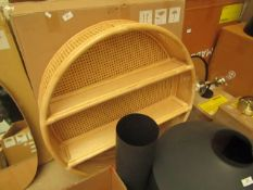 1 x Made.com Clare Round Shelves 80cm Natural Rattan RRP £149 SKU MAD-STOCLA009NAT-UK TOTAL RRP £149