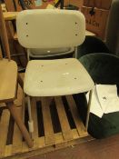 | 1X | MADE.COM METAL DINING CHAIR - UNCHECKED & NEEDS A CLEAN | RRP £- |