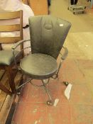 | 1X | COX & COX INDUSTRIAL STYLE OFFICE CHAIR - GREY | NO VISIBLE DAMAGE | RRP £325 |