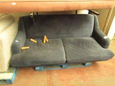 1 x Made.com Ariana 3 Seater Sofa Sapphire Velvet RRP ¶œ799 SKU MAD-SOFARI038BLU-UK TOTAL RRP ¶œ799.
