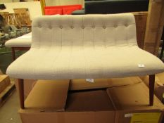 1 x Halbert 2 Seater Sofa, Oat Weave SKU MAD-CHAHBT005NAT-UK TOTAL RRP £299 This lot is a completely