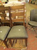 2x Bayside Leather Dining Chairs - Look Unused (NO GURANTEE)