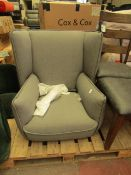 | 1X | MADE.COM GREY ARMCHAIR | RIPS AT THE BACK & LEGS PRESENT | RRP £279 |