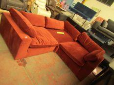Made.com 3 piece corner modular sofa, no major damage (no guarantee or warranty) Internal ref: