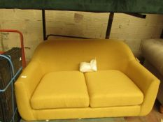 | 1X | MADE.COM MUSTARD 2 SEATER LOVE SEAT | NO VISIBLE DAMAGE AND INCLUDES FEET | RRP ?349 |