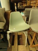| 1X | MADE.COM DINING CHAIR WITH METAL LEGS | NO FIXINGS & UNUSED | RRP CIRCA ?- |