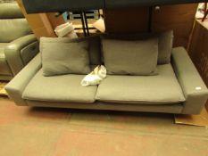 1 x Made.com Fallyn 3 Seater Sofa Stoned Slate Fabric RRP £1199 SKU MAD-SOFFAL015GRY-UK TOTAL RRP £