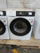 Hisense 9KG washing machine with dose assist, powers on and the drum spins but we have not connected