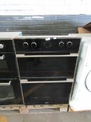 Teka Built in Double Oven - Cant test due to no wire - No major damage Visible - Has Metal shelves