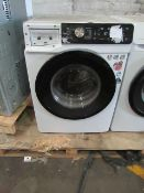 Hisense 9KG washing machine with dose assist, powers on and spins, soap drawer front is missing, RRP