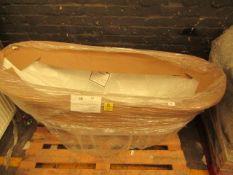 PJH Traditional Slipper bath, looks to be unused but missing feet, 1620x710x770mm, RROP Circa £349