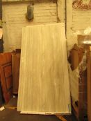 Nuance Silver travertine Hined Tongue and Groove wall panel 2420 x 1200 x 11mm, RRP £199