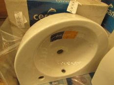 Cersanit Nano 550mm 1TH cloakroom basin, new and boxed.