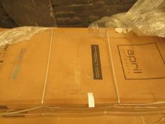 April Products Prestige 800 x 1900 shower side panel in polished silver, new and boxed.
