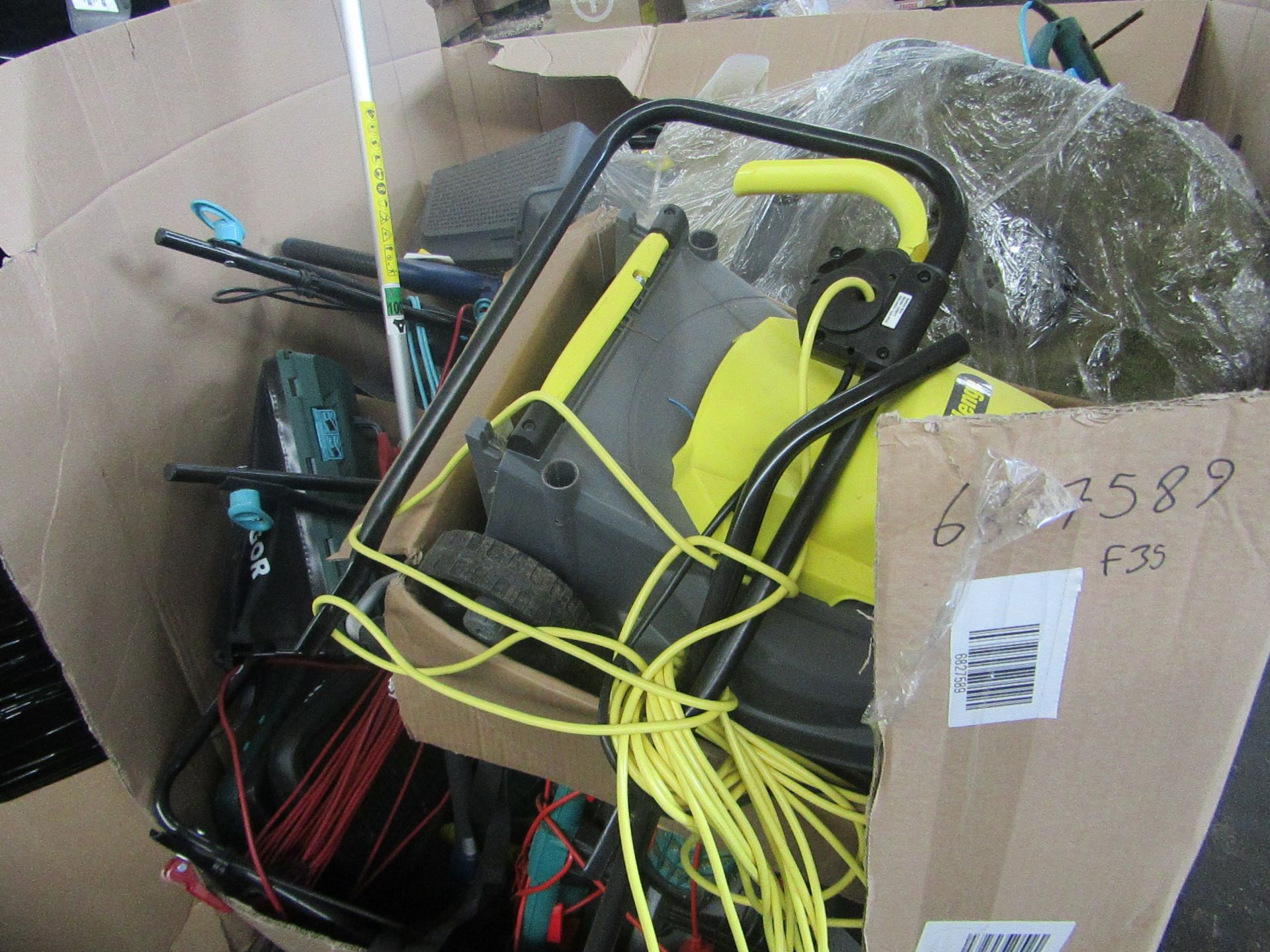   1X   PALLET OF FAULTY / MISSING PARTS / DAMAGED RAW CUSTOMER RETURNS ELECTRIC GARDEN POWER