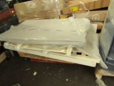 Costco Single white wooden bed frame. Unchecked.