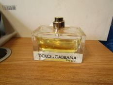 Dolce & Gabbana The One Eau De Parfum 75ml 50% Full RRP £75