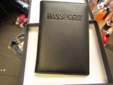 1 x Boca Brown Leather Passport Organiser with RFID Blocking to Prevent Card Cloning New & Boxed