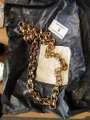 """Gold Filled Diamond Cut Belcher Chain Necklace, new, Necklace is 24"""" and weighs 160 grams"""