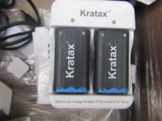 1X Kratax Rechargeable NI-MH Battery, unchecked and in damaged box