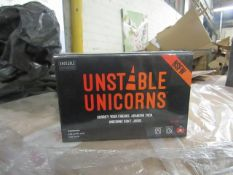 2x Unstopable Unicorn's - Card Game - New & Packaged.