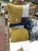 | 2X | SWOON PURCELL CUSHION, CREAM, MUSTARD, NAVY | UNCHECKED | RRP £39 | TOTAL LOT RRP £78 |