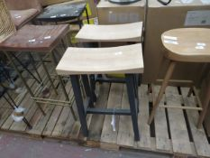 | 2X | COX AND COX CURVED TOP STOOL | NO VISIBLE MAJOR DAMAGE RRP £225 | TOTAL LOT RRP £450 |