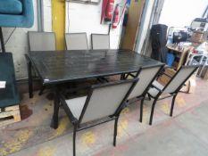 Costco outdoor 7 piece dining set, no major damage.