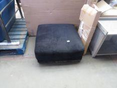 1 x Swoon Denver Easy Velvet Footstool in Black Dark RRP ¶œ599 SKU SWO-