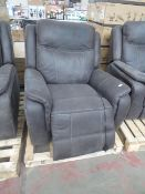 Costco leather recliner, untested but looks in good condition (no guarantee)